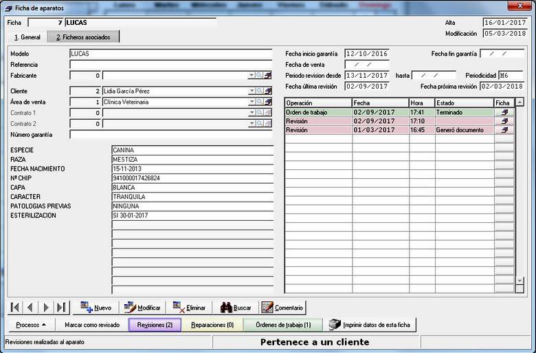 Preferência Software de Gestión para Clínicas Veterinarias | Verial FJ37